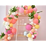 Pink Balloons Arch&Garland Kit/90PCS Pastel Birthday Party Balloons Macaron 9 Colors for Wedding, Baby Shower, Graduations, A