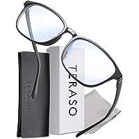 ブルーライトカットメガネ JIS規格-UV99% おしゃれで超軽量 Tr90素材-43% 度なし伊達めがね-PC眼鏡 T…