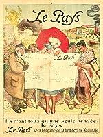 Le Paysヴィンテージポスター(アーティスト: Adolph L Willette )フランスC。1904 9 x 12 Art Print LANT-66070-9x12