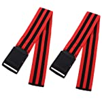 Perfeclan 2Pcs Occlusion Bands Blood Flow Restriction Training Wraps Gym Home Fitness