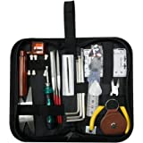 Guitar Repairing Tool Kit(26PCS) Wire Plier,String Organizer,Fingerboard Protector,Hex Wrenches, Files, String Ruler Action R
