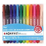 マジック 水性ペン アクアテックスリム 12色 MAQ70C-12
