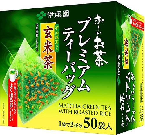 おーいお茶 プレミアムティーバッグ 宇治抹茶入り玄米茶 50袋