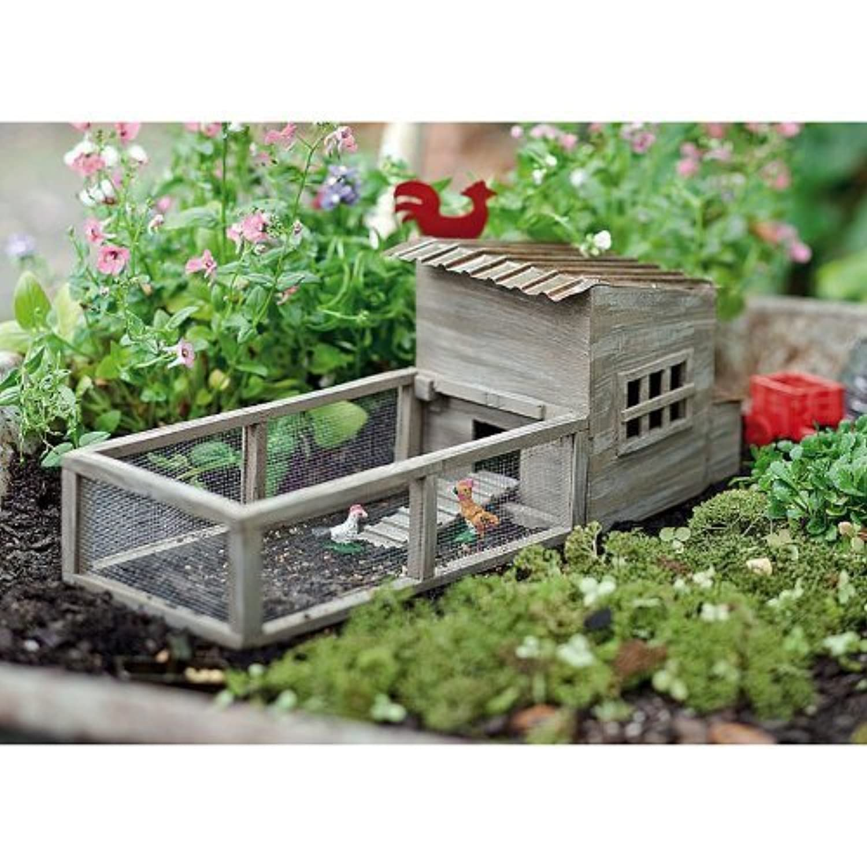 [ Jeremy ] Jeremie Miniature Fairy Garden Chicken Coop with Chickens JRM _ 60740 _ c2.50-ca [並行輸入品]