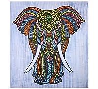 象タペストリー壁吊り壁MandalaタペストリーボヘミアンヒッピータペストリーIndian寮装飾人気タペストリーの寝室リビングルームDorms