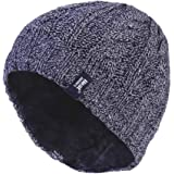 Heat Holders - Womens Thick Fleece Lined Cable Knit Thermal Winter Beanie Hat