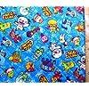 カミワザ・ワンダ(ブルー)(材料セット・キルティング)(テープの色は濃ブルーとなります)<初心者でも簡単なキャラクター生地セットです!>