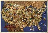 マップ: 1946年ウィリアム・Gropperのアメリカ、そのfolklore|folklore|pictorial