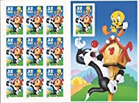 Scott 3205: Sylvester and Tweety Pane of 10 Stamps with Imperforate 10th Stamp by USPS [並行輸入品]