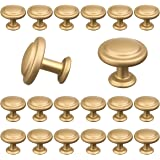 18 Pack of Cabinet Knobs for Dresser Drawers Gold Cabinet Knobs Drawer Pulls and Knobs Dresser Knobs Kitchen Knobs