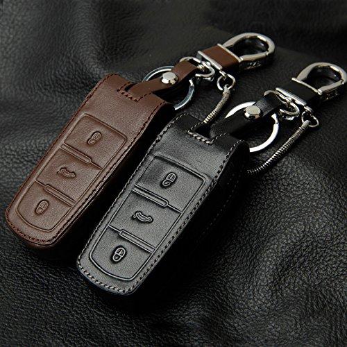 レザー車のスタイリングキーカバーケース用フォルクスワーゲンvw ccパサートb6 b7パサート3c cc maogotan r36 b5 b7lオートキーカバーアクセサリー-Insert Type Black
