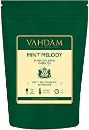 VAHDAM, Mint Green Tea Loose Leaf (100 Cups) | RICH ANTI-OXIDANTS | Peppermint Tea With Pure Green Tea Leaves | REFRESHING M