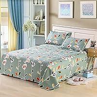 綿100% ベッドシーツ, ベッド シーツ セット 夏の寝袋 目の粗い布地シート シワ キング, クイーン-D 230x250cm(91x98inch)