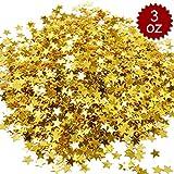 アスパイア(Aspire) 0.09kg キラキラ スター テーブル 紙吹雪 プレミアム メタル 誕生日 パーティー ウェディング デコレーション - ゴールド