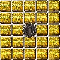 square1.5CM/0.6 security label Original 3D color changing photolithography golden hologram label 500pcs [並行輸入品]