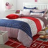 uxcell ベッドルーム 星空月 パターン 羽毛布団 掛け布団 カバー 枕カバー 寝具セット ダブル サイズ