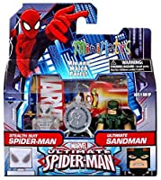 Minimates- Ultimate Spider-Man: Stealth Suit Spider-Man & Ultimate Sandman