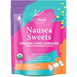 Pink Stork Nausea Sweets: Lite Peppermint, Organic Hard Candy, Nausea Relief + Morning Sickness Relief for Pregnant Women + B