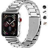 SUNDAREE® Compatible with Apple Watch バンド 38mm&40MM ステンレス、ビジ…
