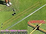 ツアーアライメントスティック 2本 ケース入 90度固定ガイドキャップ付 ゴルフ練習用品