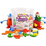 Colorations - BUILDME Creative Creatures Dough Builders (Includes 260 Pieces) - Playdough & Molding Clay Accessories for Kids