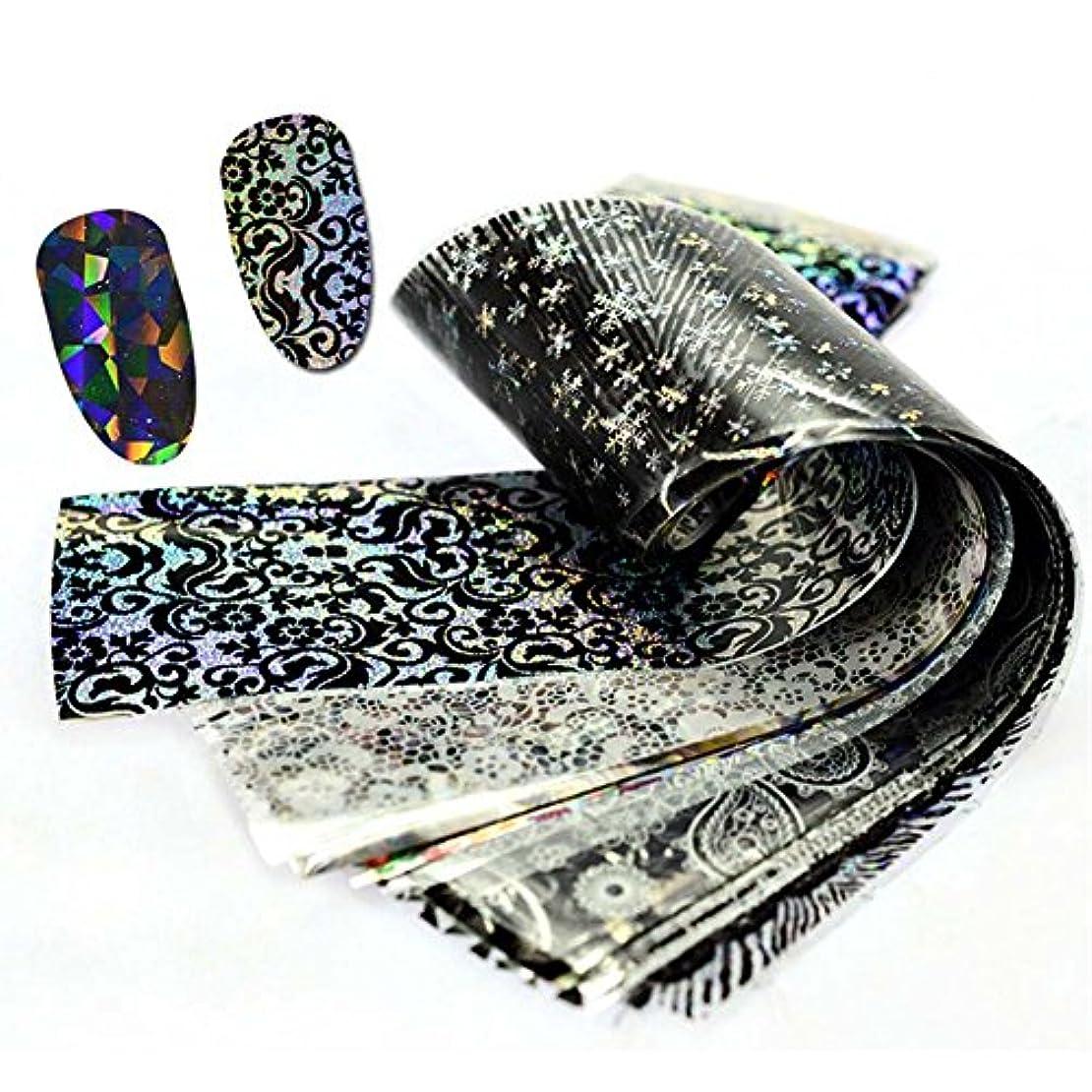 ミット在庫クレーターLookathot 3/10/50シートレーザースカイスターズネイルアートステッカーシンフォニーカラフルな箔紙印刷転写アクリルデカールDIYの装飾用具