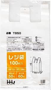 レジ袋 西日本 50号 東日本 60号 半透明 100枚入 0.02mm 厚 ゴミ袋 にも TB50