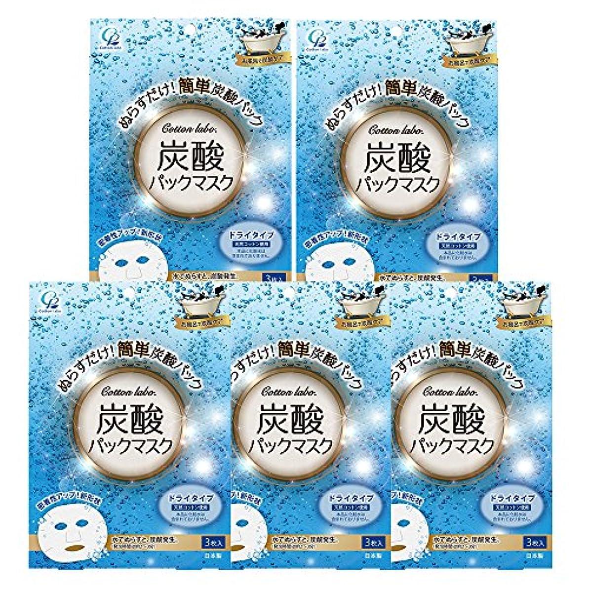 病な賞賛松明【セット品】炭酸パックマスク3枚入り×5パック