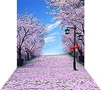 ouyida Beautiful Flower Road 10x 15ft ( 300x 450cm ) Pictorial布カスタマイズ写真バックドロップ背景Studioプロップgq88