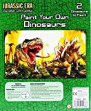 Kandy 2セット Paint Your Own Dinosaur クラフトモデルキット - T-Rex / Stegosaurus 5歳以上