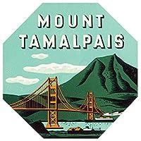 """マウントTamalpais状態公園カリフォルニアReproduction荷物デカール4"""" x4"""""""