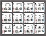 2019年 何度でも貼ってはがせる シールカレンダー ([カレンダー])