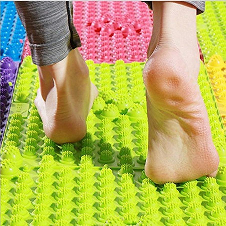 干し草炭素雪だるま2 PCS足マッサージマット、鍼治療指圧循環リフレクソロジー足の痛みの緩和と筋肉のリラクゼーション(ランダムカラー)のためのバスルームバスマット