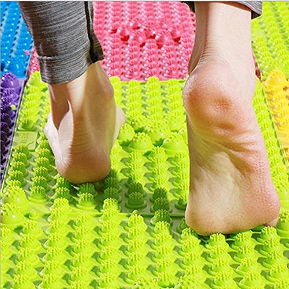 処方グローブ守る2 PCS足マッサージマット、鍼治療指圧循環リフレクソロジー足の痛みの緩和と筋肉のリラクゼーション(ランダムカラー)のためのバスルームバスマット