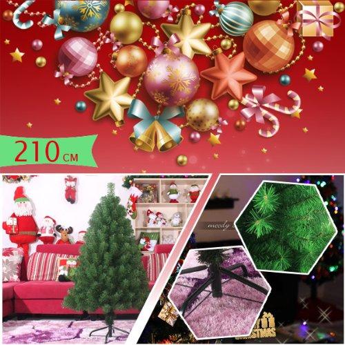 クリスマスツリー 210cm ☆Christmas tree☆ツリー単品 コネティカットツリー 枝は傘のように広げるヒンジ式なので簡単
