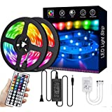 LED Strip Lights 10M/32.8ft 300 LEDs SMD5050 RGB Strip Lights Waterproof Rope Lights Color Changing Tape Light Kit with 44 Ke