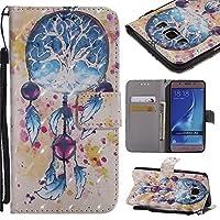 Ooboom Samsung Galaxy J1 2016 ケース レザ 3D 手帳型 横開き カバー 革 マグネット式ド収納 スタンド機能 財布型 カード おしゃれ フリップ 高品質 - ドリームキャッチャー