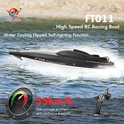 GoolRC Feilun FT011 2.4G 55km/h 高速 RC レーシング ボート 船 水冷 反転自己復原機能付き