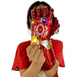 yacn Infinity Gauntlet for Kids, Infinity War with 6 Removable Stones Magnet Infinity Stones-3 Flash Mode Halloween Party Pro