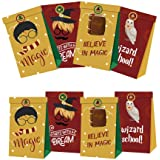12 PCS Magical Wizard Party Gift Bags for Harry Fans Party Supplies Birthday Party Decorations - Party Favor Goody Treat Cand