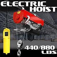 GHP 880lbs二重線容量1725rpm 1–1/ 4hpモーター110V ElectricケーブルHoistリフト