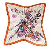 AINO シルク 風 調 スカーフ レトロ調 90cm 角正方形 大判正方形 スカーフ 贈り物 ギフト 母の日 プレゼント 3