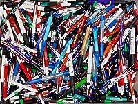 Wholesale Lot of 100MisprintインクペンボールポイントプラスチックRetractable Pensミックス