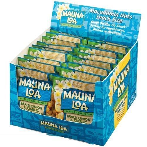 MAUNALOA(マウナロア) マカダミアナッツオニオンガーリック味18袋セット (ハワイ おつまみ)