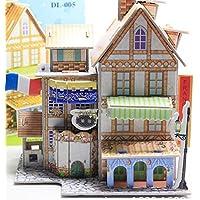 HuaQingPiJu-JP 創造的な教育3Dパズルアーリーラーニングシェイプカラー動物玩具子供のための素晴らしいギフト(フランスのホテル)