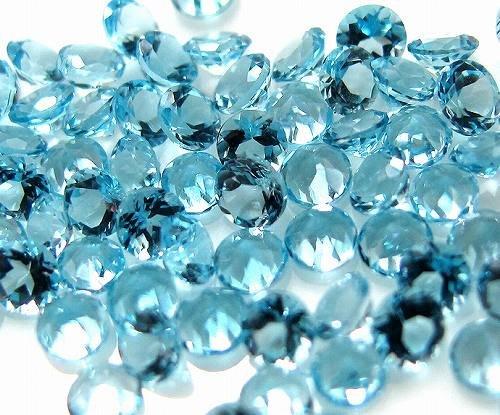 [해외]라운드 컷 1.5mm 하늘색 하늘색 큐빅 루스 나석/Round cut 1.5mm light blue light blue cubic zirconia loose naked stone