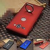 SONY Xperia XZ2 Compact ケース カバー スマホリング 片手持ち リングブラケット付き スタンド スリム おしゃれ 指紋防止加工 ハードケース ソニー エクスペリアXZ2 / SO-05K コンパクト ハードカバー アンドロイド おすすめ おしゃれ スマホケース (ブラック)-1