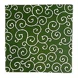むす美 京唐草 唐草模様 風呂敷 帯付 日本製 グリーン (90cm)