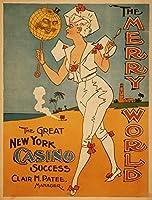 The Great New Yorkカジノ成功Theatreポスター 16 x 24 Giclee Print LANT-4248-16x24