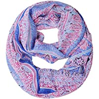 YAKEFJ Womens Retro Soft Chiffon Loop Infinity Scarf Wave Snood Wrap Scarves